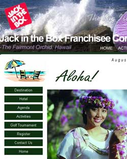 Jack In The Box intranet web site